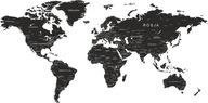 Naklejki Ścienne na ścianę mapa świata nazwy 200cm
