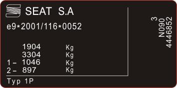 табличка мощность kia gm opel ford восстановление