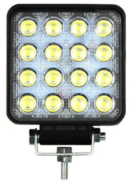 lampa светодиодная 16 led противотуманная 48w 12v 24v ledowa