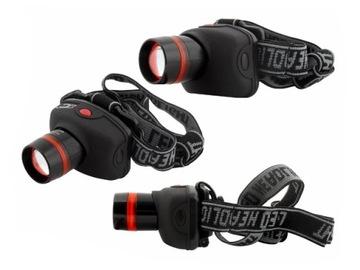 Фонарик фонарь налобный головная CREE LED ZOOM - 3W доставка товаров из Польши и Allegro на русском