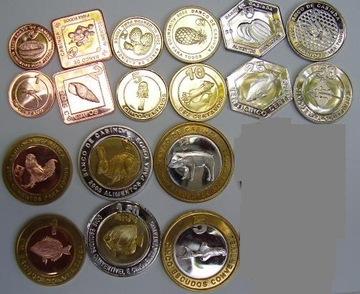 КАБИНДА набор из 9 монет  доставка товаров из Польши и Allegro на русском
