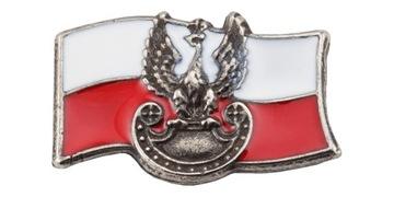 Застежка польша флаг с орлом военным доставка товаров из Польши и Allegro на русском