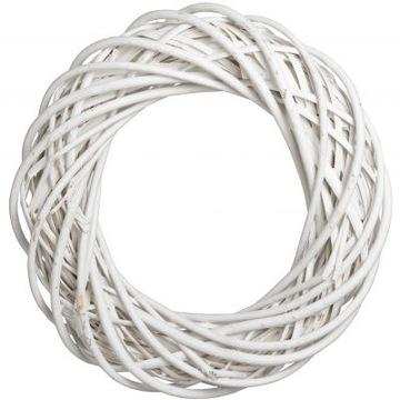 Венок плетеный Белый диаметр 30 см WIKLINAGruby доставка товаров из Польши и Allegro на русском