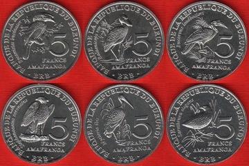 БУРУНДИ набор из 6 монет 2014 Птицы  доставка товаров из Польши и Allegro на русском