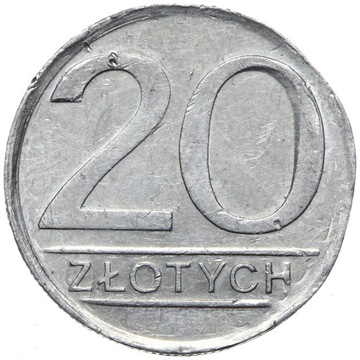 + Польша NIENOTOWANA ПРОБА - 20 Злотых 1984 - AL доставка товаров из Польши и Allegro на русском