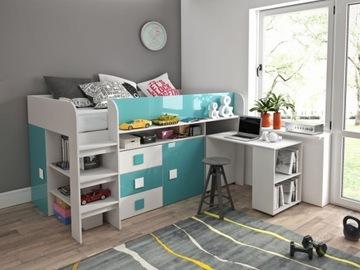 Łóżko piętrowe antresola TOLEDO 1 z biurkiem