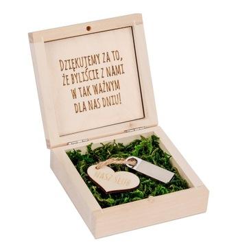 Деревянный ящик на флешку + гравер + pen 16GB доставка товаров из Польши и Allegro на русском