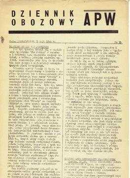 ВОЕННОЕ СООБЩЕНИЕ ДЛЯ САМОПОМОЩИ No. 5 / Лондон 1946  доставка товаров из Польши и Allegro на русском