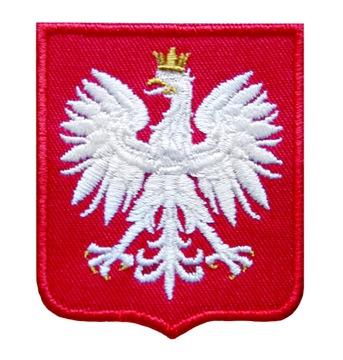 (ЭМБЛЕМА на униформе полоса ОРЕЛ 55x66 новый) доставка товаров из Польши и Allegro на русском