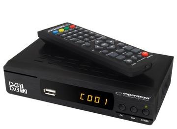 ТЮНЕР ЦИФРОВОЙ ДЕКОДЕР DVB-T TV HD MPEG-4, ПУЛЬТ ДУ доставка товаров из Польши и Allegro на русском