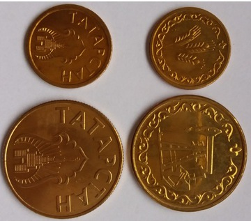 TATARSTAN zestaw 2 monet 1993r !!! rzadkie доставка товаров из Польши и Allegro на русском