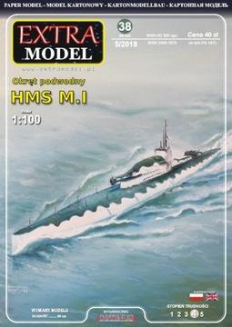 EXTRA MODEL_Okręt подводная лодка HMS М. И 1:100 доставка товаров из Польши и Allegro на русском