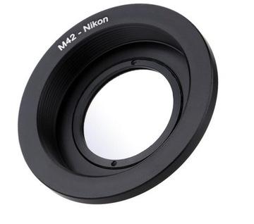 Адаптер Nikon M42 БЕСКОНЕЧНОСТЬ MC 8 покрытий доставка товаров из Польши и Allegro на русском