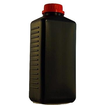 Čierna fľaša s 1000 ml nahou chémiou