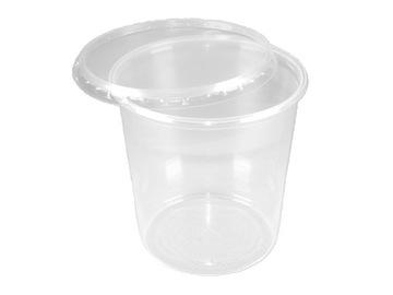 Plastová nádoba + kryt 500ml 100ks PP