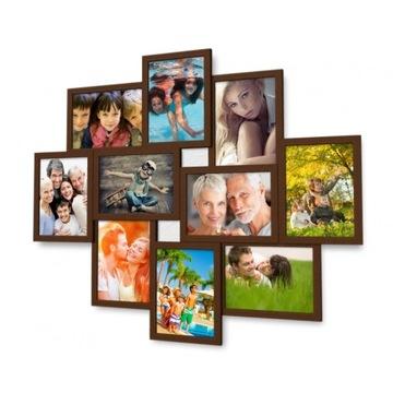 3D1002 Rám pre obrázky Dark Brown 10x15 cm