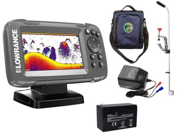 Echosounder s GPS Lowrance HOOK² 4x prenosná súprava