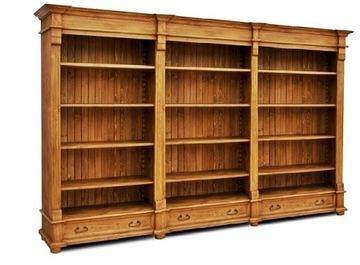 Деревянная библиотека, Книжная полка, Книжный шкаф РЕТРО