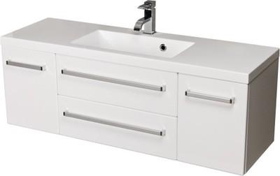 Szafka łazienkowa Z Umywalką 120 Cm Biały Połysk 7425280033 Allegropl