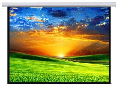 240x180 Ekran projekcyjny elektryczny 120 4:3 16:9