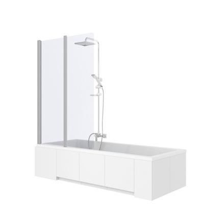 Sprchové dvere - Sklopná obrazovka NAWANNOWY AGAT-2 GLASS 80 cm