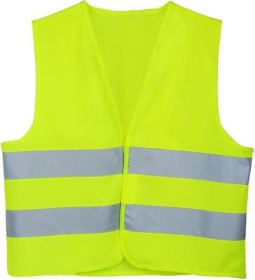 Kamizelka odblaskowa ostrzegawcza drogowa żółta