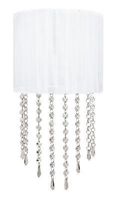Biały kinkiet kryształowy glamour nowoczesny modny