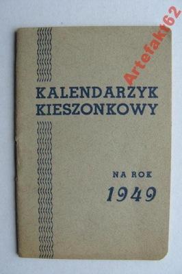 KALENDARZYK KIESZONKOWY NA ROK 1949