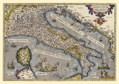 Старая карта Италии