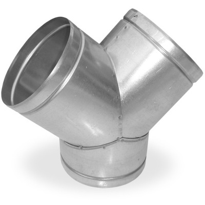 тройник, 3 - 100 Y оцинкованный Flex камин