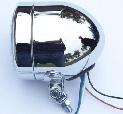 LAMPA CHROMOWANA PRZEDNIA PODŁUŻNA REFLEKTOR SUPER