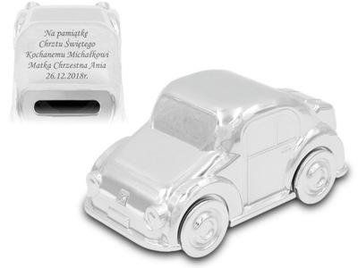 Pokladničky - Prasiatko Auto Auto VYRYTÉ Krst Ročne