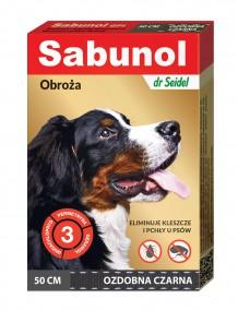 Сабунола черная воротник Нарядная блох/клещей 50см