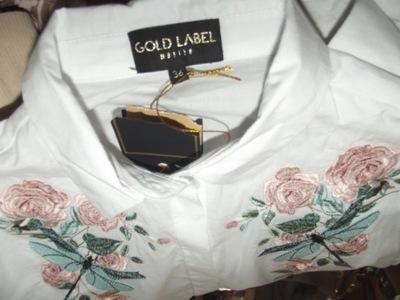 MOHITO Gold Label S/36 nowa kolor BIEL100% bawełna