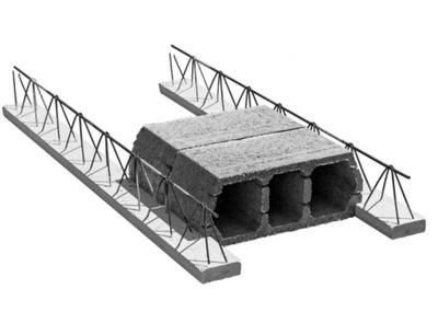 кирпич пустотелый скоба TERIVA 4 .Ноль /1 żużlobetonowy - перекрытие