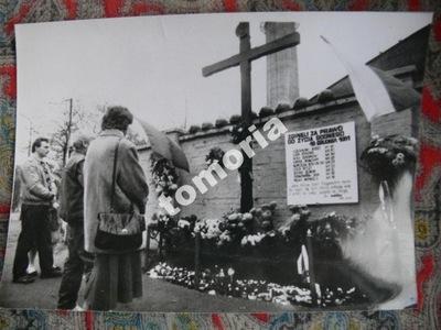 PRL kopalnia Wujek Katowice 1989 prasowa a