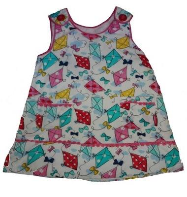 LATAWCE śliczna sukieneczka 3 - 6 miesięcy