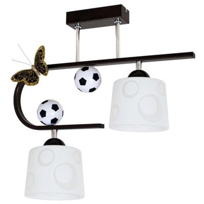 Лампа для мальчика FOOTBALL 2 Венге _ _ или Синий