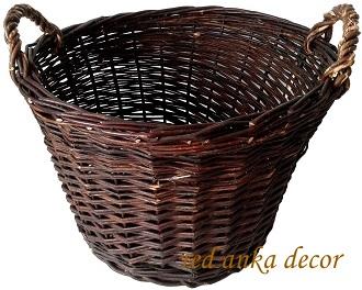 KOŠÍK tkané prútený Poľsko nieskorowana 40 cm