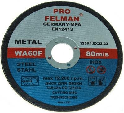 диск диски для РЕЗКА МЕТАЛЛА 125X1,Ноль FELMAN