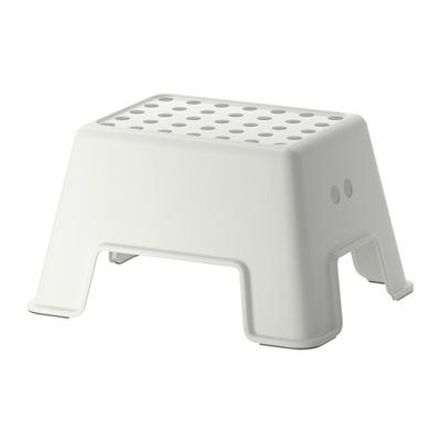 IKEA BOLMEN Stołek ze schodkiem, biały