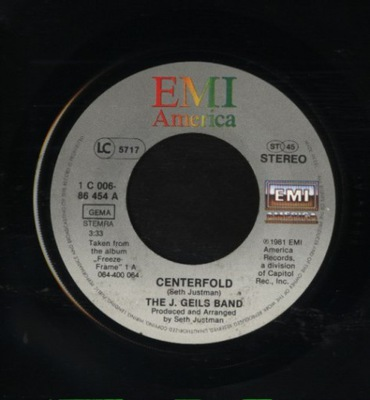 THE J. GEILS BAND - CENTERFOLD - RAGE IN THE CAGE
