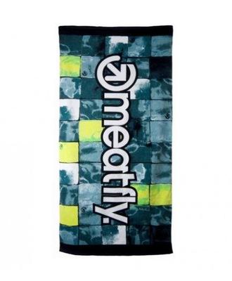 Štýlové bavlnené uteráky Meatfly čierne-zelené