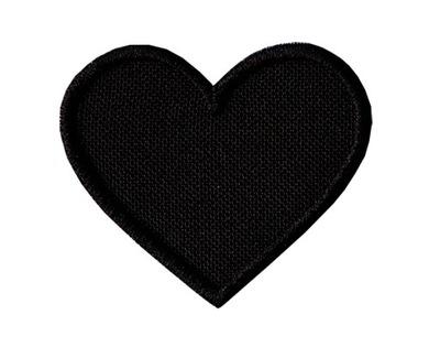 Полоса ?????????? Заплатка термо сердце черные