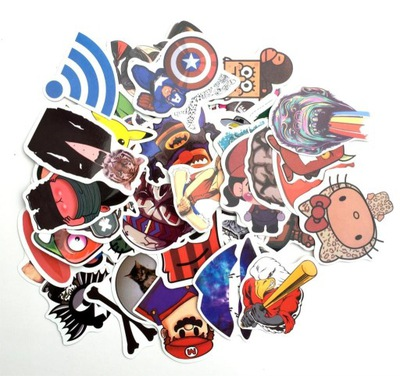 NAKLEJKI STICKER DC MARVEL BATMAN IRON MAN 30 SZT
