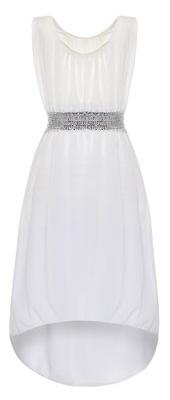 GUESS Biała sukienka dekolt asymetryczny (38) 8537286144