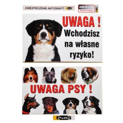 Табличка предупреждения металлический ПРИМЕЧАНИЕ Собака Таблица