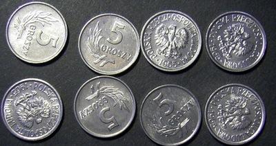 5 groszy 1965 stan menniczy , ładne