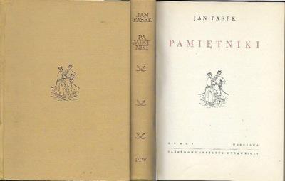 Jan Pasek: PAMIĘTNIKI / 1955 / ilustrowane