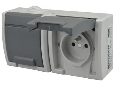 AQUANT Zásuvky double sealed IP55, vonkajšie inštalácie